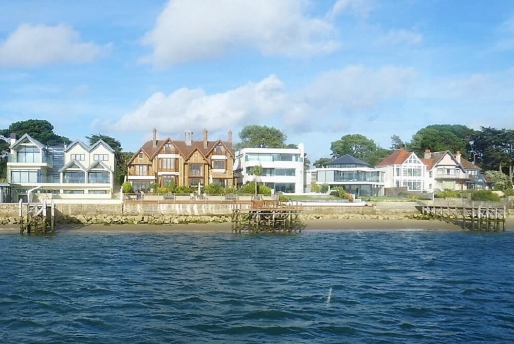 Sandbanks houses - Sea Train Adventure - Two Traveling Texans
