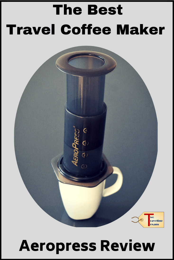 Like to drink coffee while traveling? Then you need the best travel coffee maker! Click to read about our favorite the Aeropress Coffee maker and some of the other top coffee makers for travel.  | coffee maker travel | coffee while camping | coffee on the go | make the best coffee | coffee on the road travel