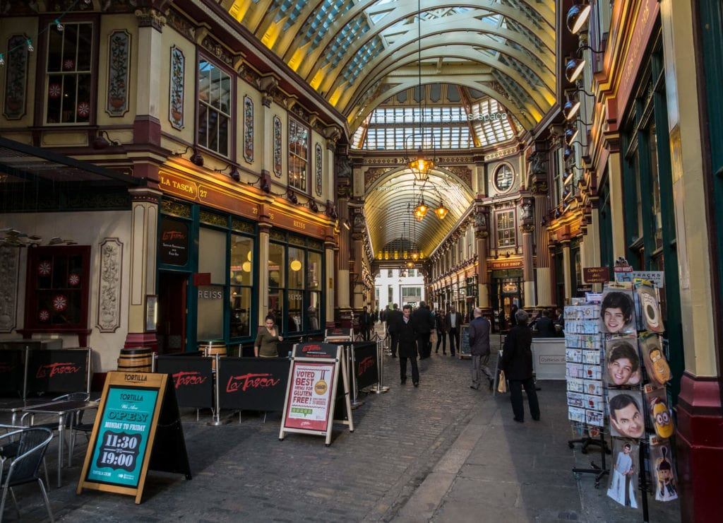 Leadenhall Market - Harry Potter Tour in London - Two Traveling Texans