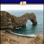 "durdle door with text overlay ""Visiting the Durdle Door and Lulworth Cove"""