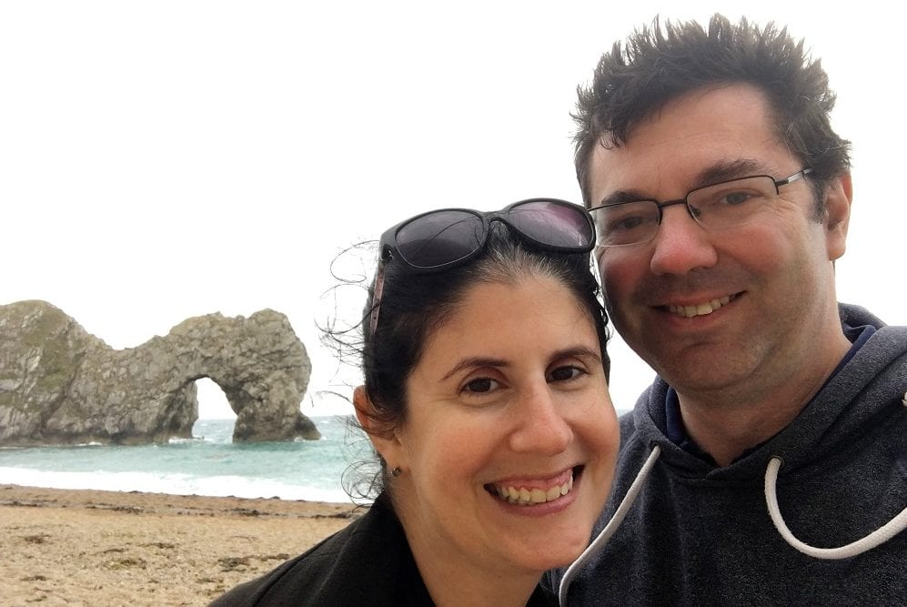 Obligatory selfie with the Durdle Door. - Durdle Door and Lulworth Cove - Two Traveling Texans