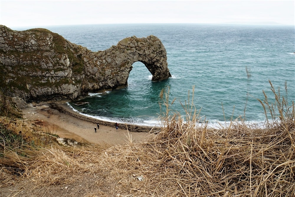 View of the Durdle Door from above - Durdle Door and Lulworth Cove - Two Traveling Texans