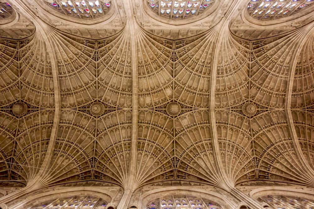 Ceiling of Kings College Chapel - Cambridge Day Trip - Two Traveling Texans