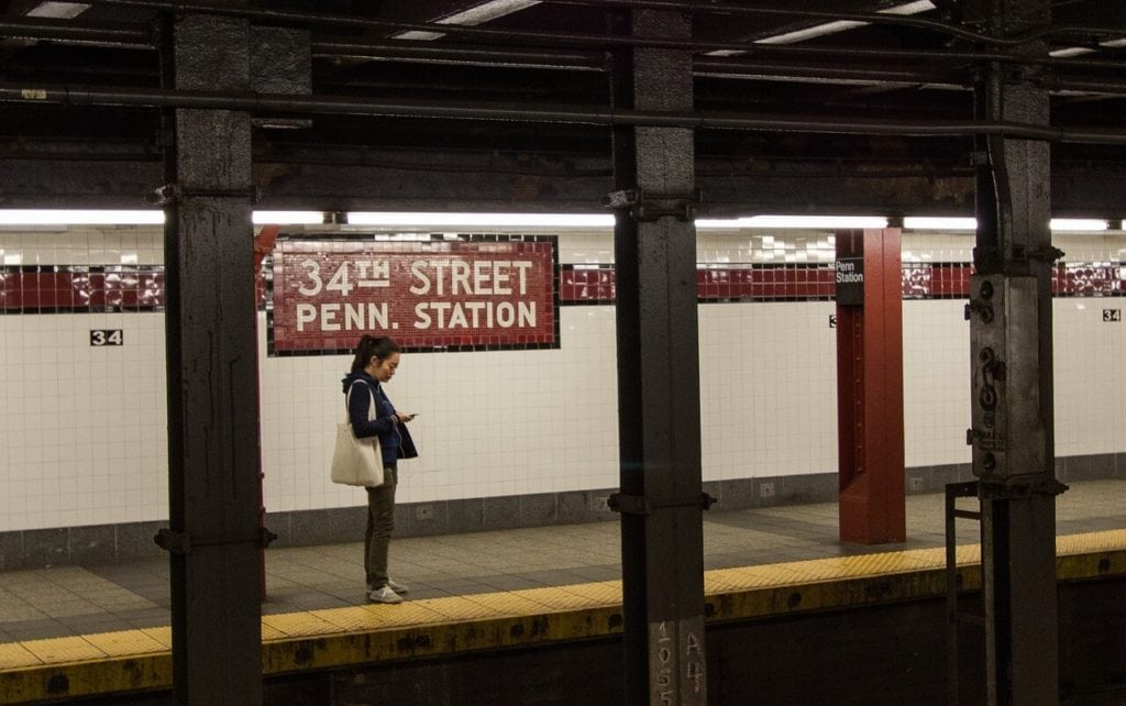 Penn Station Subway station - How to get from LGA to Manhattan - Two Traveling Texans