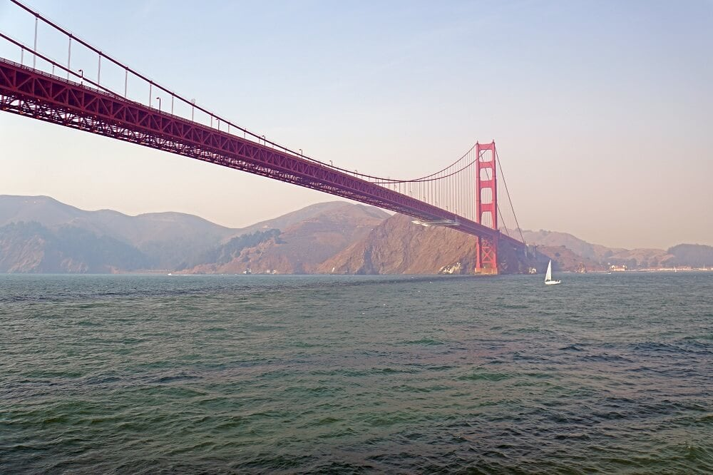 The view as we headed towards the Golden Gate Bridge. - SF Bay Boat Tour
