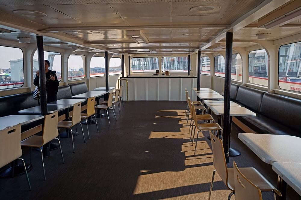 Inside the Red and White Fleet Boat. - San Francisco Boat Tour
