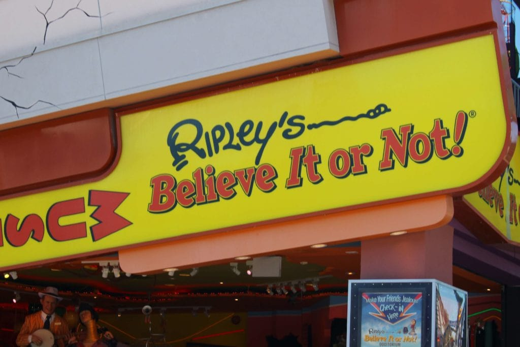 Outside of Ripley's Believe it or Not Museum