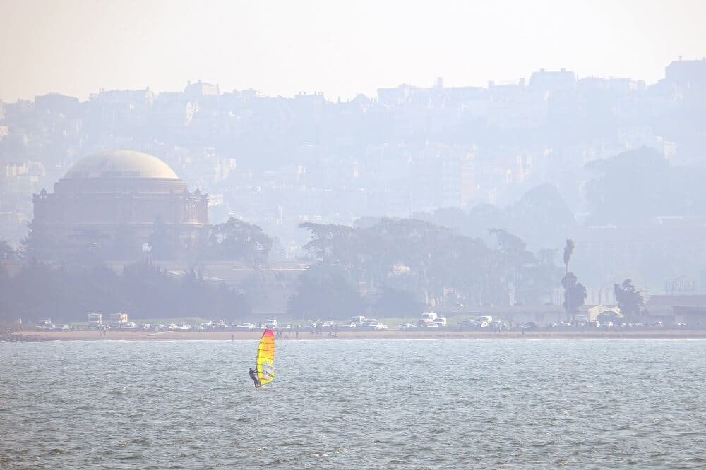 One of the windsurfers we saw during our San Francisco boat ride.