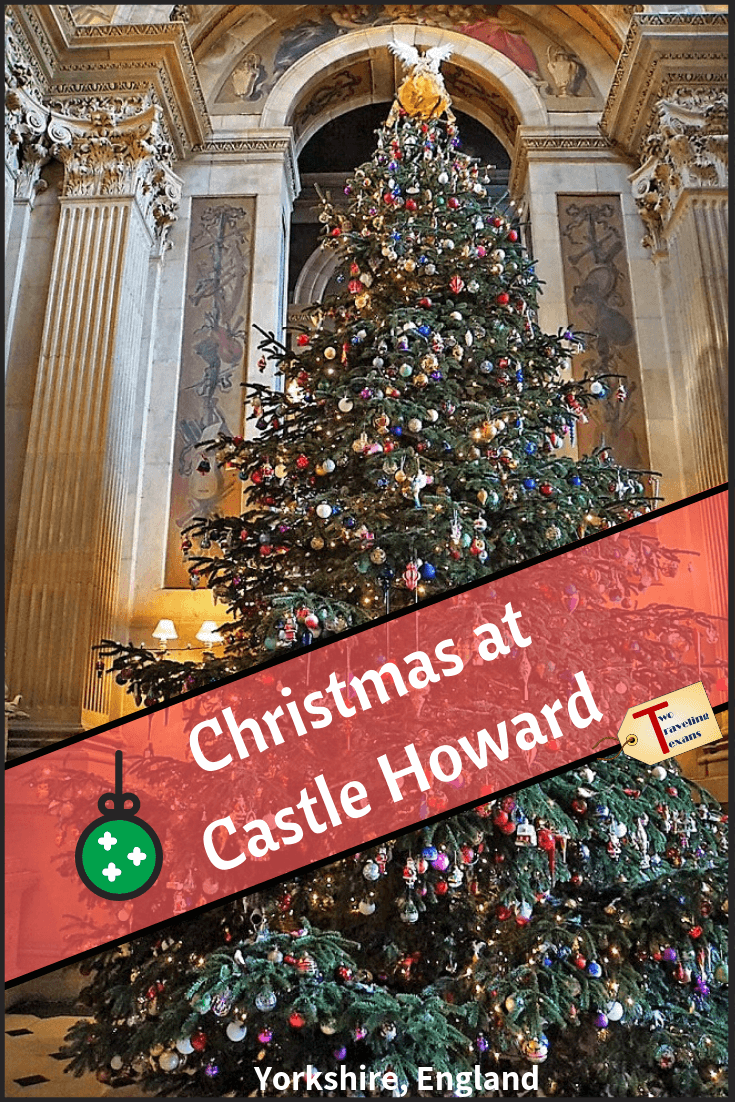 castle howard christmas tree with text overlay
