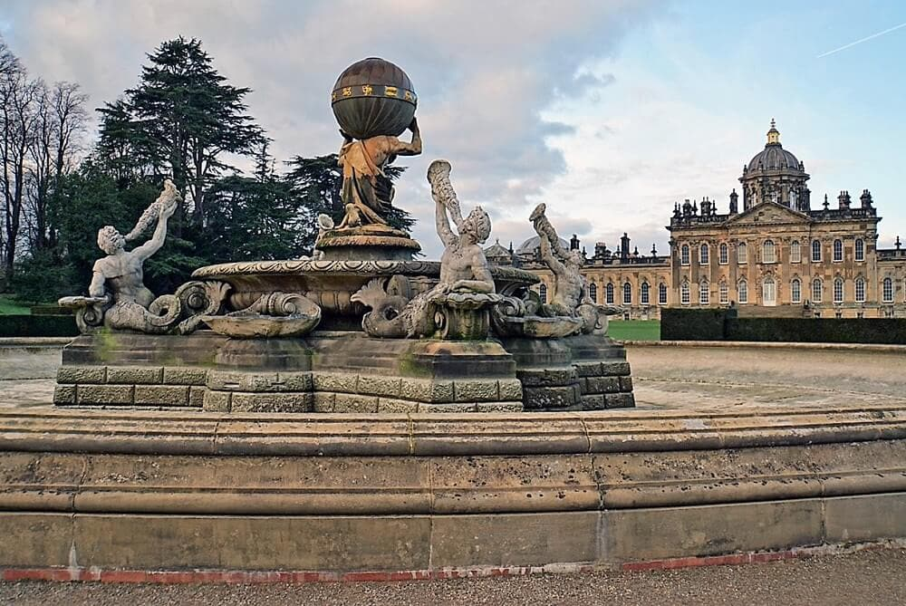 The Atlas Fountain in the Gardens of Castle Howard - Two Traveling Texans