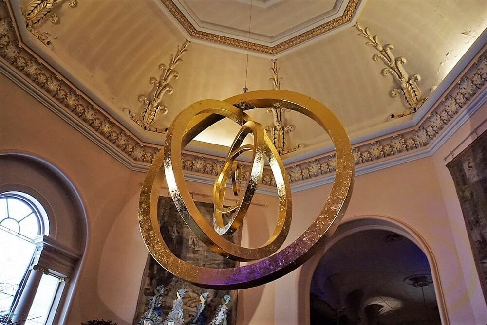 five golden rings mobile at Castle Howard - Two Traveling Texans