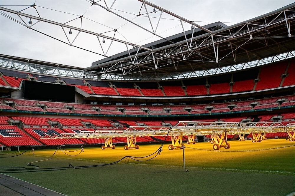 View from the Wembley Pitch - Two Traveling Texans