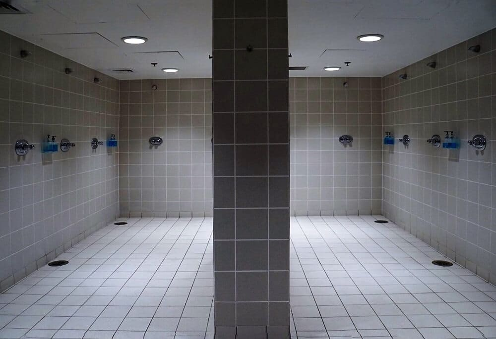On our Wembley Stadium Tour we saw the Shower block that the England National Football Team uses! - Two Traveling Texans