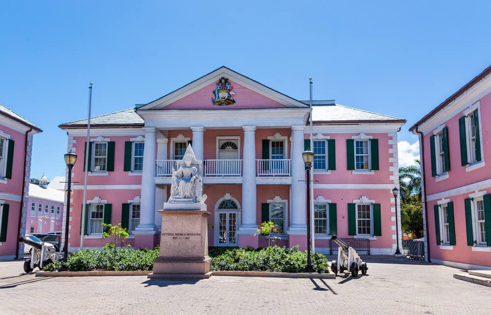 The government buildings in Nassau.