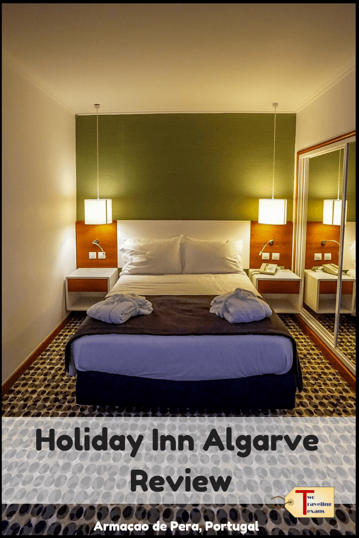 Trying to decide where to stay in the Algarve in Portugal? Check out my detailed review of the Holiday Inn Algarve in Armacao de Pera Portugal.  It's one of the best places to stay in the Algarve. #algarve #portugaltravel #visitportugal #hotelreview | Algarve hotels | Algarve Portugal where to stay | Algarve Portugal hotels | Algarve where to stay | Algarve accomodation | Algarve resorts | Algarve Travel | Algarve Portugal Hotels beaches