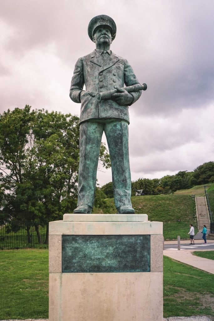 Statue of Vice Admiral Ramsey at Dover Castle