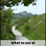"dover castle with text overlay ""what to see at Dover Castle in England"""