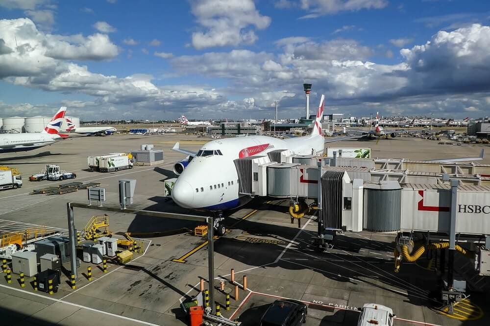 British Airways plane at LHR London Heathrow