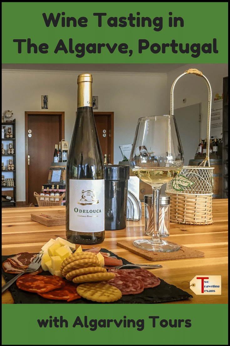 wine with plate of cheese, crackers, and meat with text overlay