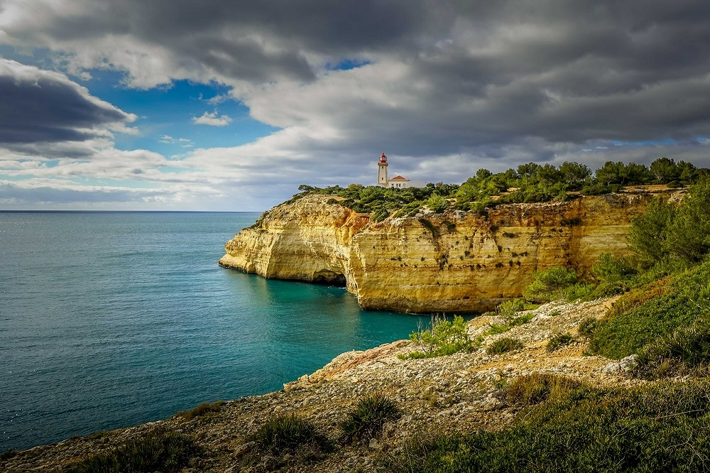Alfanzina Lighthouse on the Algarve Coast