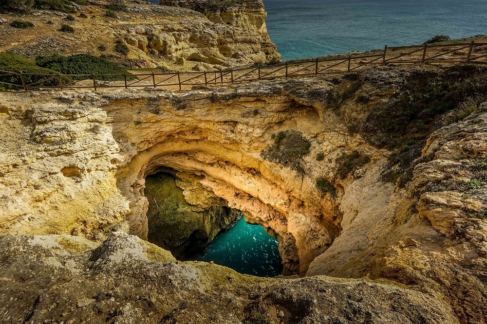 sinkhole in the Algarve