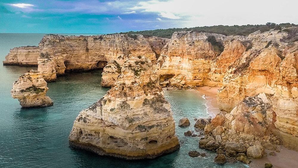 Drone shot of Praia do Marinha