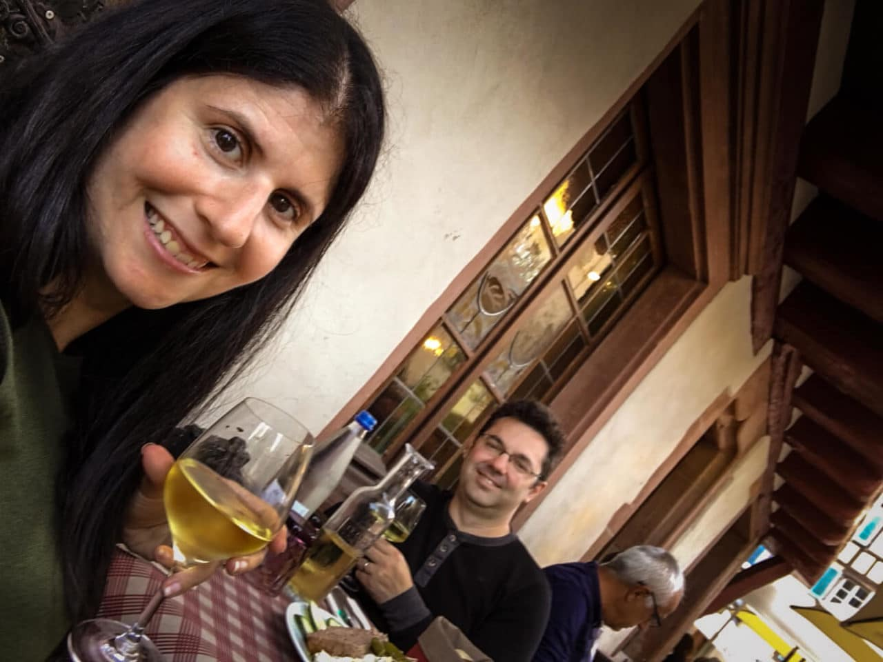 Alsatian wine with dinner