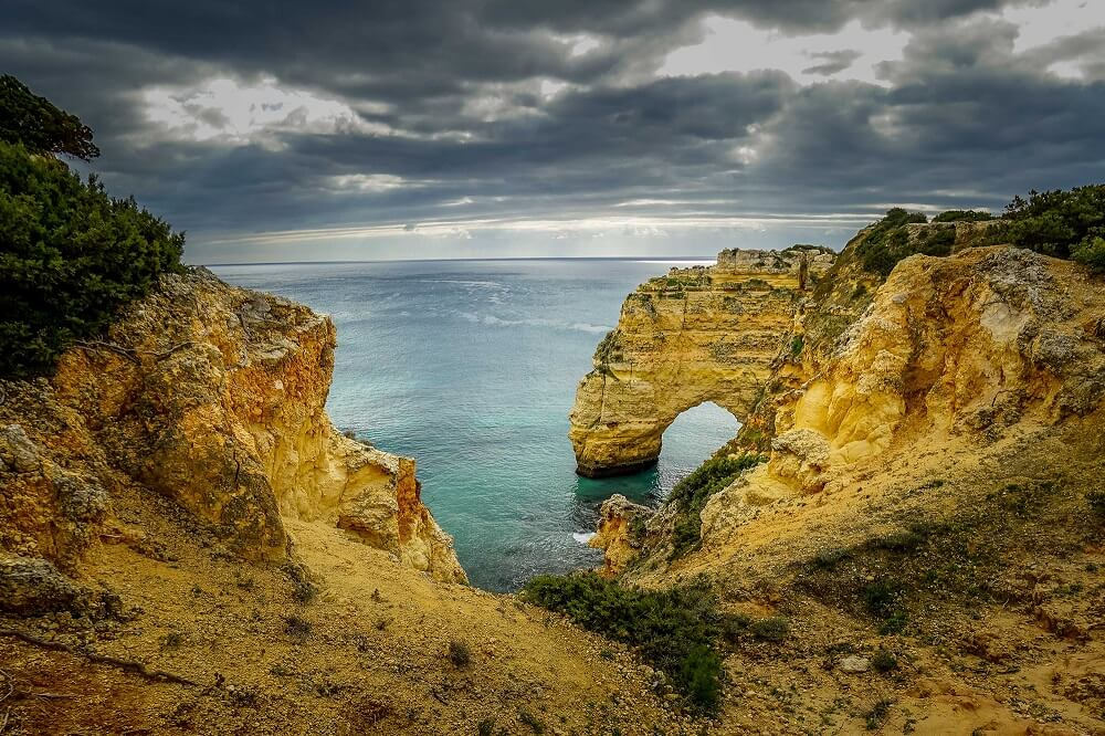 The Algarve coast has so many interesting rock formations.