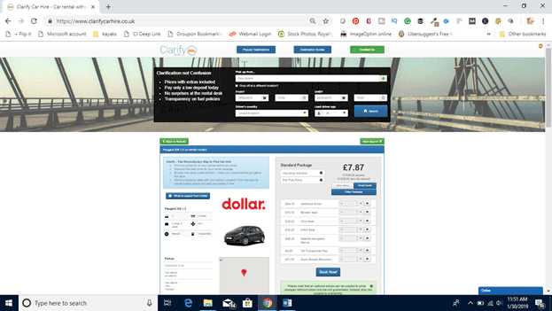 Clarify Car Hire Screen Shot