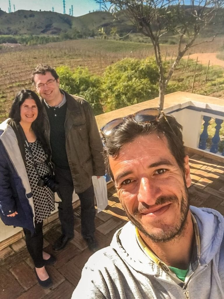 Selfie of us with João at the Quita do Frances vineyard