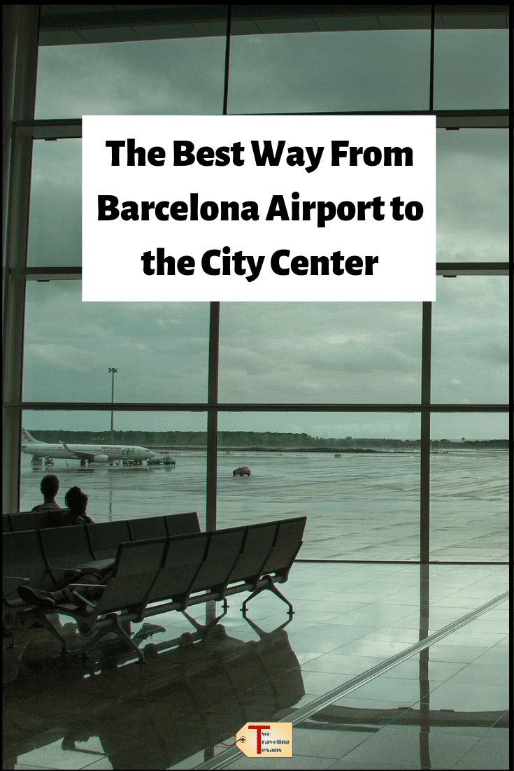 barcelona airport with text overlay