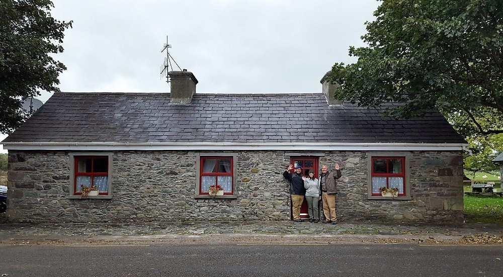 This charming Airbnb is located on a sheep farm just outside Killarney