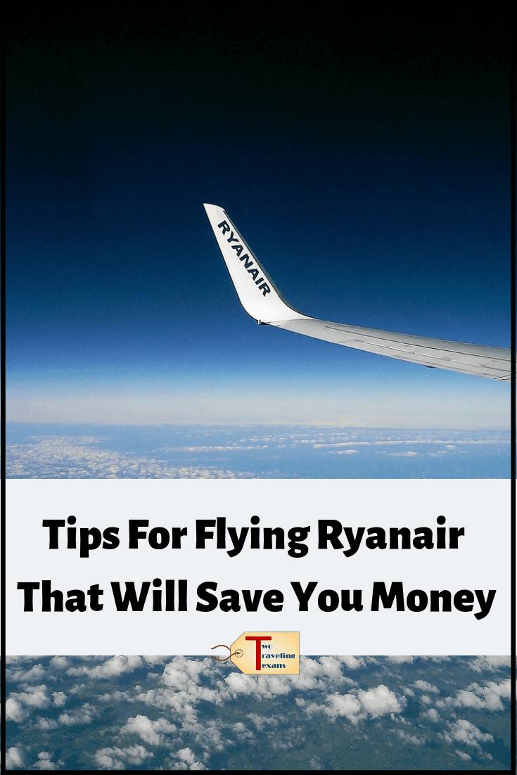 wing of Ryanair plane with text overlay