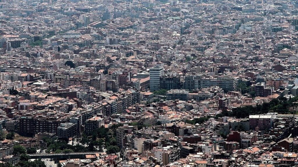 View of Barcelona city from above
