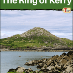 """view along the ring of kerry with text """"best places to stay on the ring of kerry"""""""
