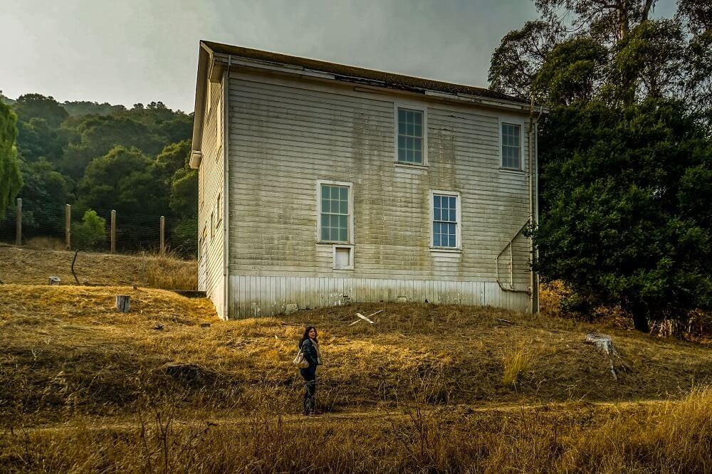 Abandoned building on Angel Island