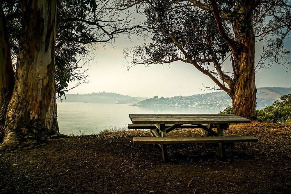 Angel Island picnic tables