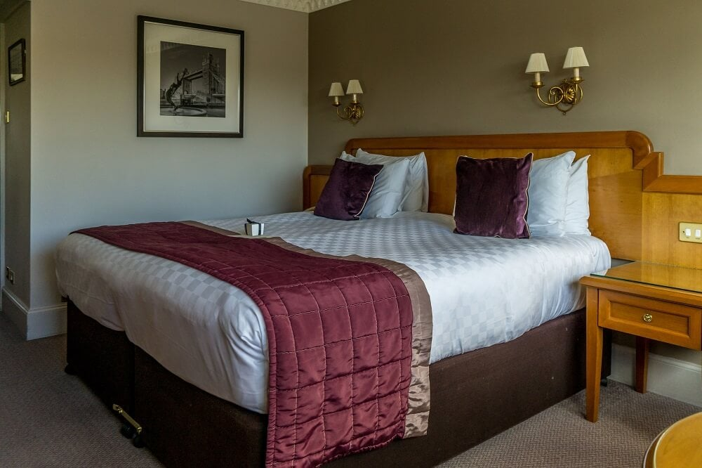 Bed at the Tower Hotel