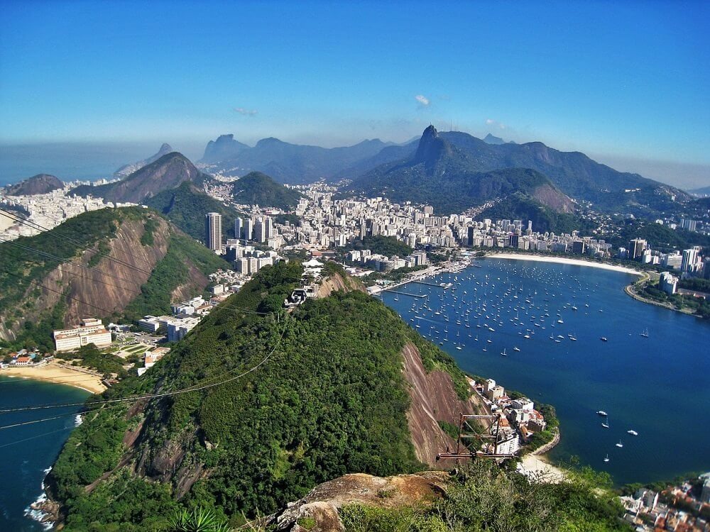 Sugarloaf Mountain in Rio in Brazil