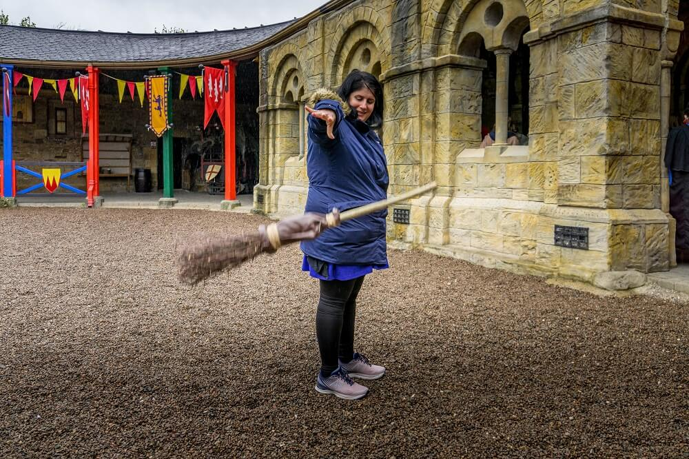 Broomstick photo at Alnwick Castle