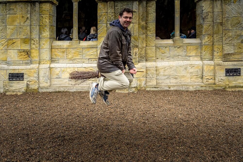 Flying Broomstick Photo at Alnwick Castle