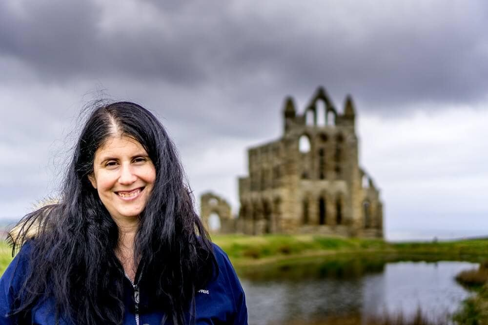Anisa at Whitby Abbey