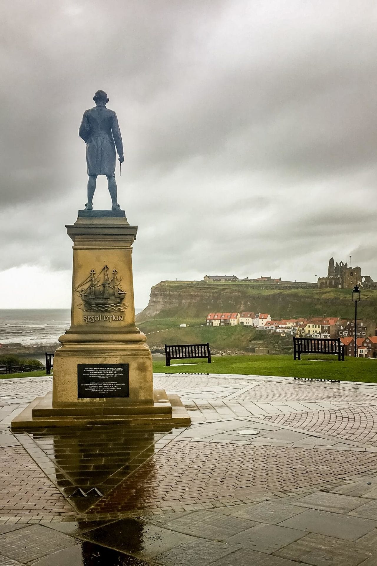 Captain Cook Memorial in Whitby England