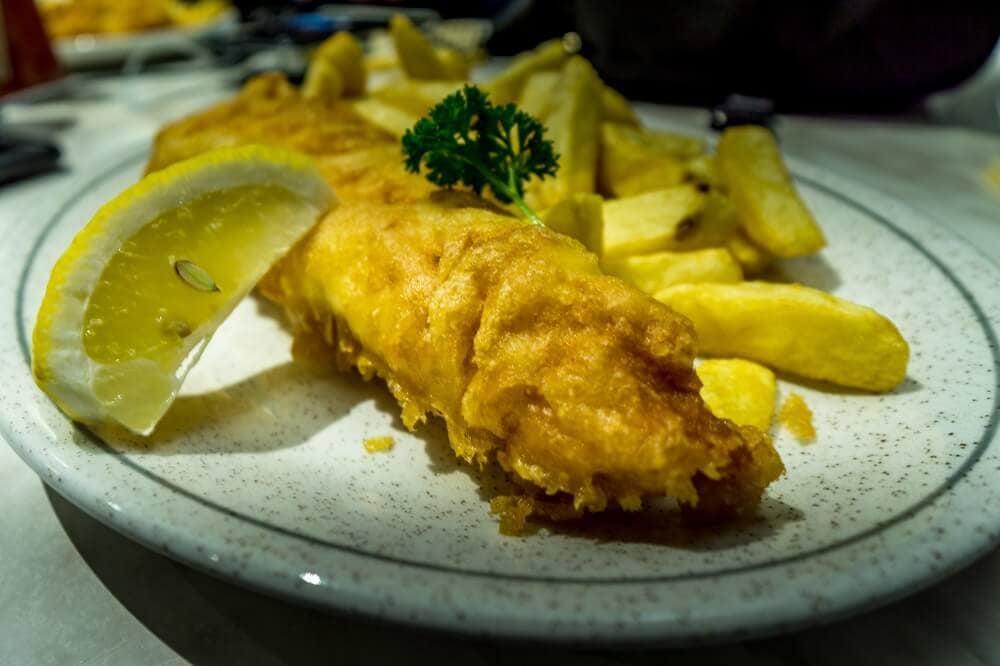 Fish and Chips from Quayside Restaurant in Whitby