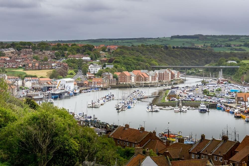view of Whitby from the 199 steps