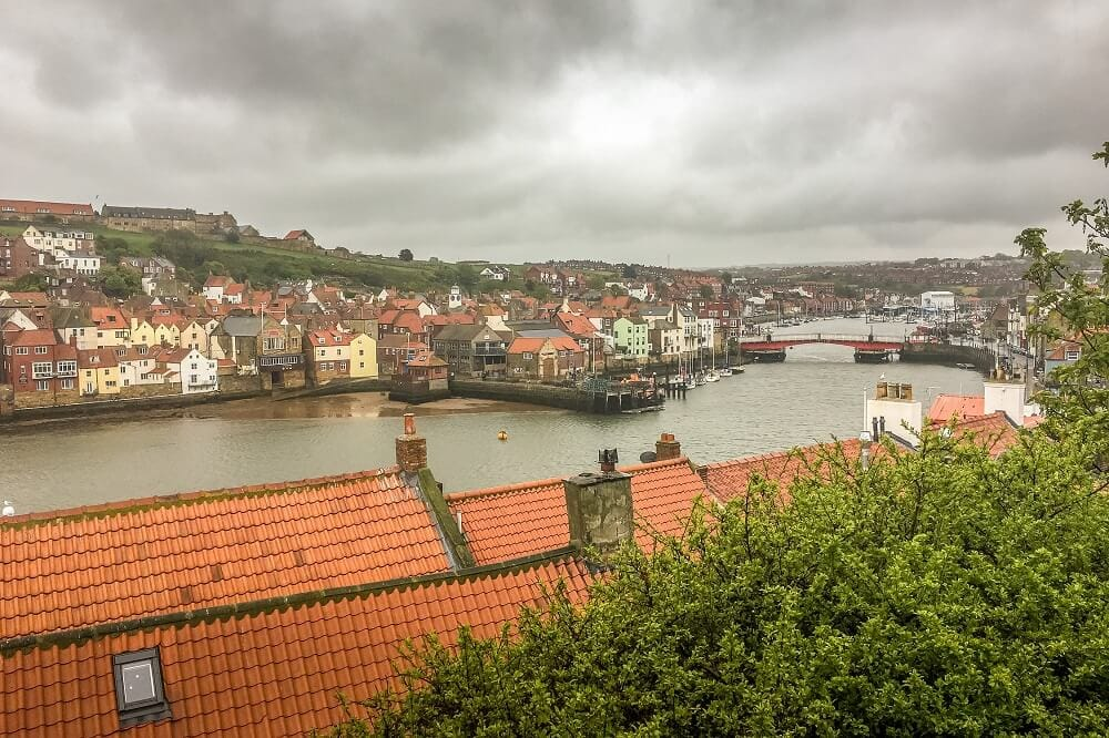 View of Whitby England and its Swing Bridge