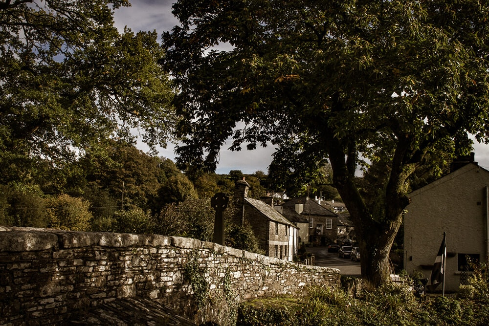 Altarnun village in Cornwall