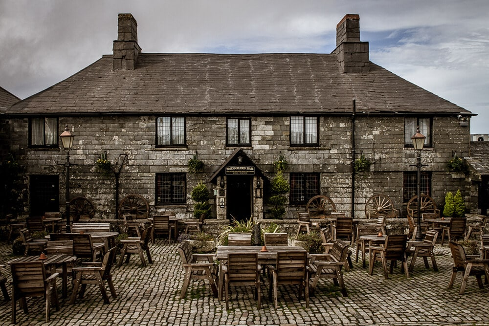 Patio at the Jamaica Inn in Cornwall