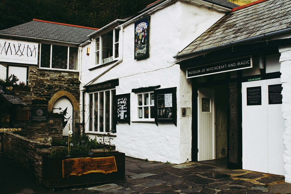 Exterior of Boscastle's Museum of Witchcraft and Magic