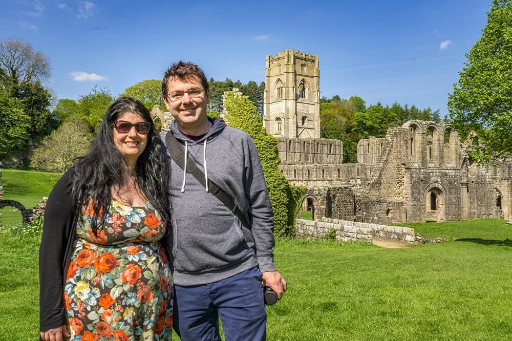 Anisa and Russell at Fountains Abbey